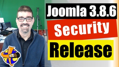 joomla 3.8.6 security and bug release
