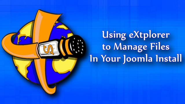 Use eXtplorer to manage files in your Joomla install.