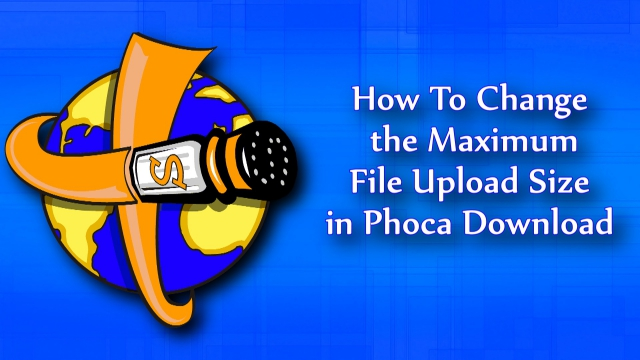 How to change to Phoca Download file size.