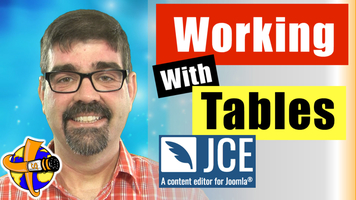 A Joomla Tutorial on Working with Tables in JCE