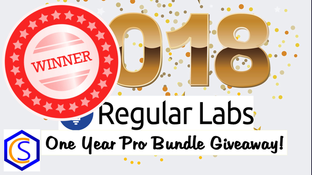 2018 Regular Labs One Year Pro Bundle Giveaway Winner